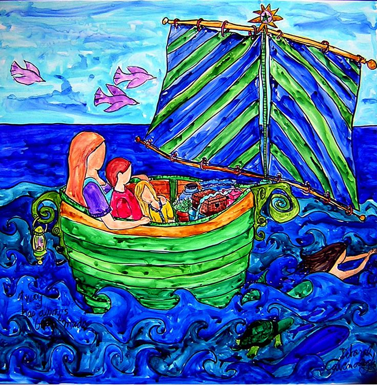 This is my family.  We set out to make a new life in our rudderless boat hoping for the best and loving each other.  More info at http://www.DeborahCavenaugh.com
