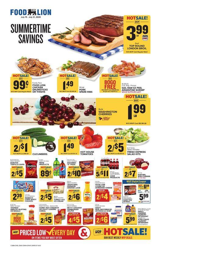 Food lion weekly ad jul 15 jul 21 2020 sneak peek