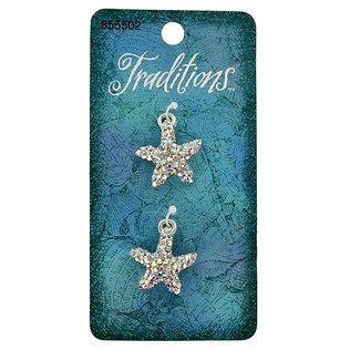 Silver crystal starfish charms 3 49 hobby lobby 50 off sale