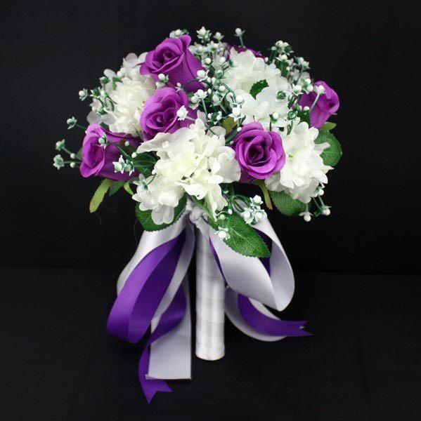 2015 Beautiful Handmade Artificial Flower Wedding Bouquets Purple Wedding Flowers Bridal Brooch Bouquets Ramos De Novia-in Wedding Bouquets from Weddings & Events on Aliexpress.com | Alibaba Group