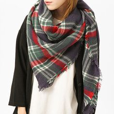 Tartan Plaid Blanket Scarf For Women Bandana Warm Square Scarves Winter Scarf Shawl Blanket online - NewChic Mobile