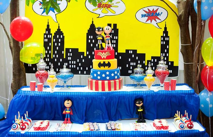Super Heroes Birthday Party Ideas | Photo 19 of 66