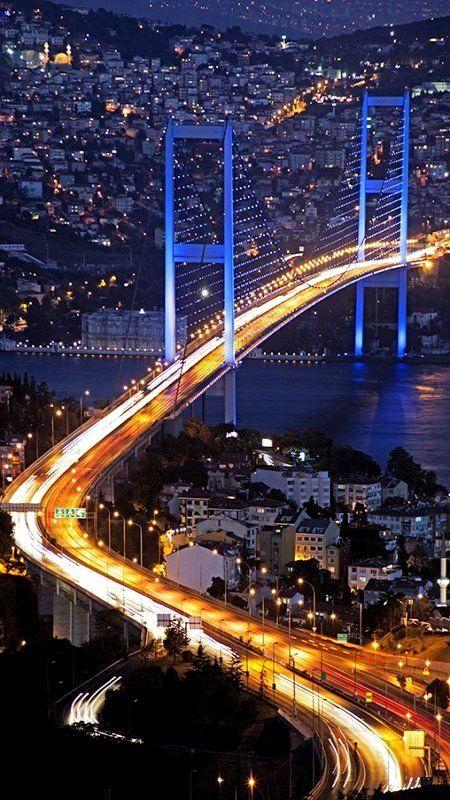 The Bosphorus Bridge, Istanbul, Turkey (by AYDIN)