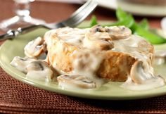 Άσπρη σάλτσα με μανιτάρια