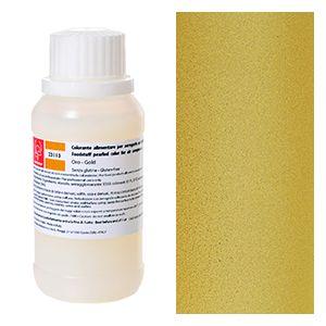 Aerografo : Colorante alimentare perlato per aerografo oro Modecor 40gr