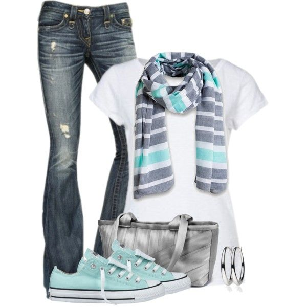 A fashion look from March 2014 featuring Marc O'Polo t-shirts, True Religion jeans and Converse sneakers. Browse and shop related looks.