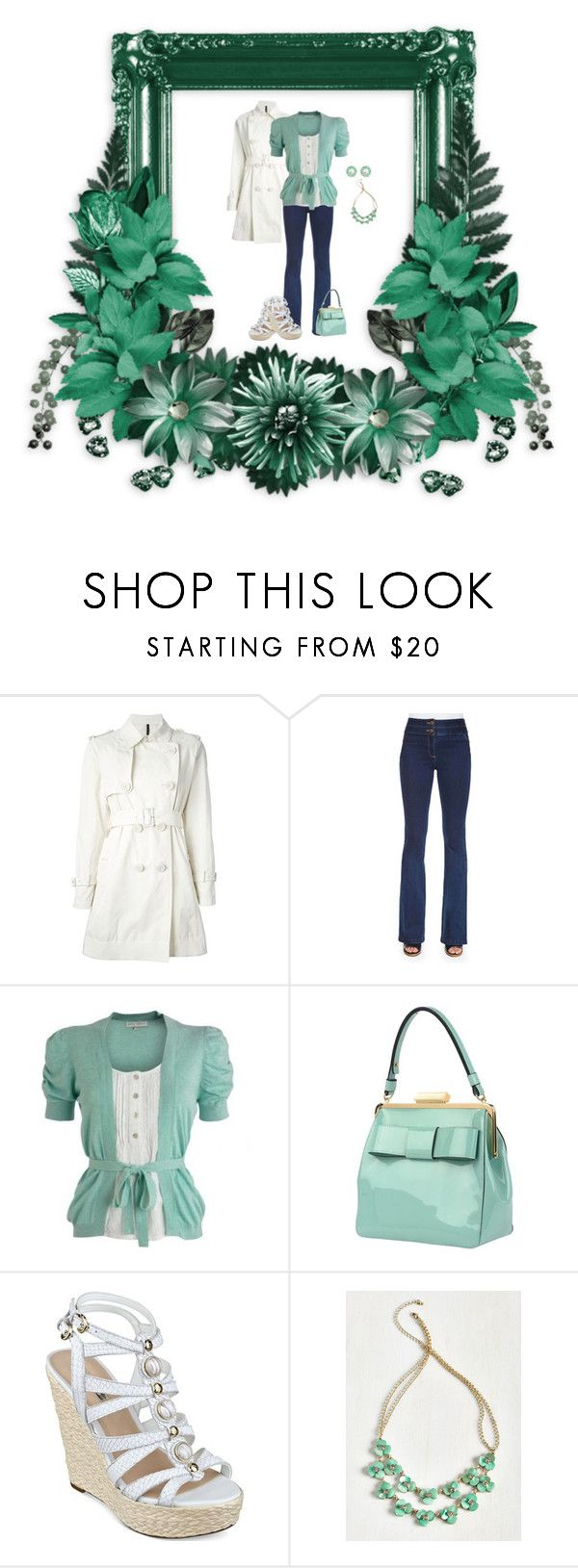 """""""Mint Green (2062)"""" by trufflelover ❤ liked on Polyvore featuring Moncler, Veronica Beard, Rocha.John Rocha, Orla Kiely and GUESS"""