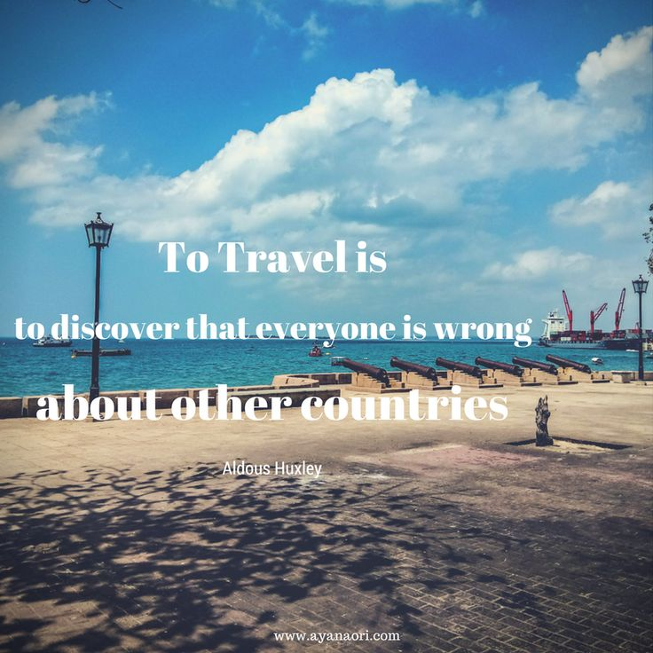 Travel quote of the day
