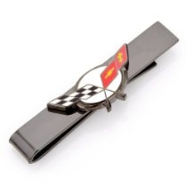 Licensed General Motors Chevy Corvette Racing Flags Logo Tie Bar http://astore.amazon.com/ahoy-20/detail/B00BZ5Q1XO | See more about General Motors, Racing and Flags.