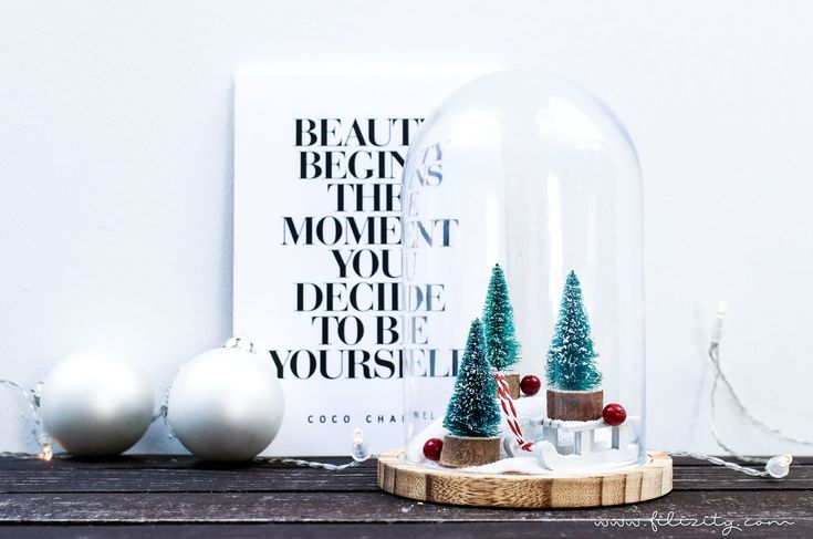 weihnachtsdeko winterwonderland im glas kleine geschenke. Black Bedroom Furniture Sets. Home Design Ideas