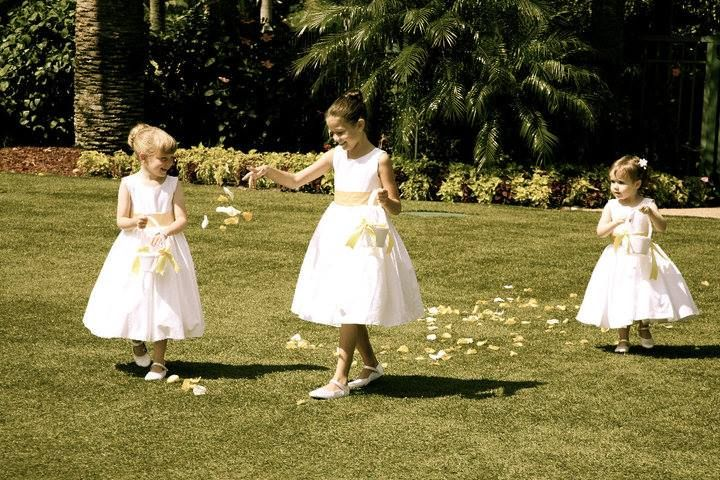 Cute flower girls