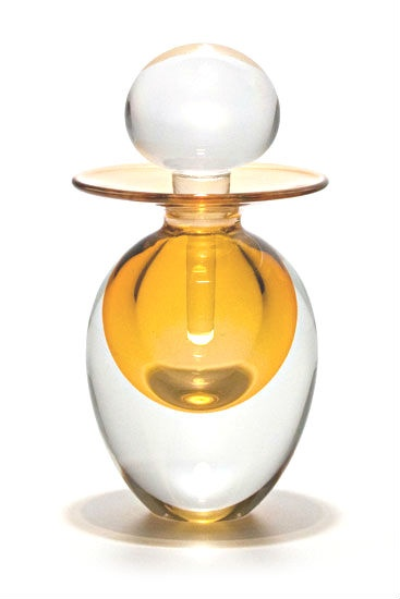 Art Glass Perfume Bottle Courtesy of InStyle-Decor.com Beverly Hills Inspiring & supporting Hollywood interior design professionals and fans, sharing beautiful luxe home decor inspirations, trending 1st in Hollywood Repin, Share & Enjoy