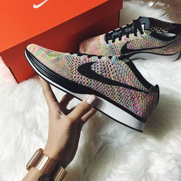 Nike Multicolor Flyknit Racer 2016 Brand new with the box. 2016 release . Women's size 9 = Mens size 7.5 -- Sold Out Shoe Nike Shoes Athletic Shoes