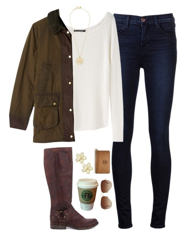 """""""UVA Basketball Game"""" by thevirginiaprep ❤ liked on Polyvore featuring mode, J Brand, rag & bone, Barbour, Frye, MANGO, Marc by Marc Jacobs, Rayban en Tory Burch"""