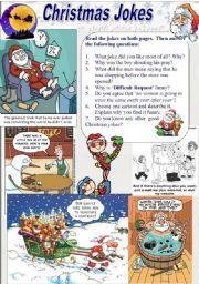 Английский: Worksheets Рождественские Шутки (2/2)