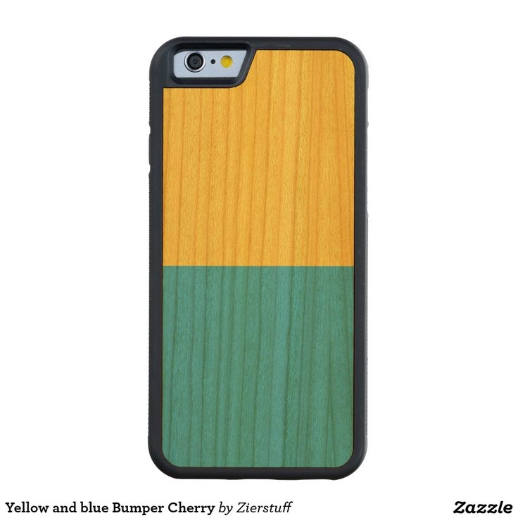 Yellow and blue Bumper Cherry Carved® Cherry iPhone 6 Bumper