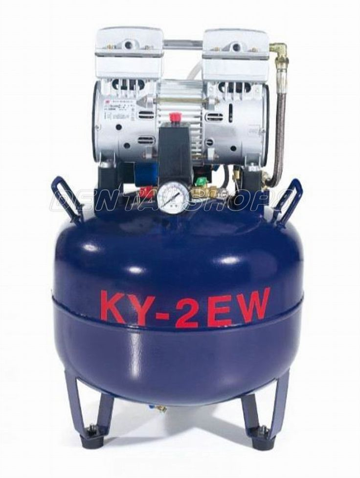 New One Driving Two 38L Medical Noiseless Oilless Dental Air Compressor CE vip