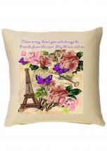 Paris postcard Mum cushion .......Ideal for Mum on Mother's day! March 30th 2014 (UK)  Only £14.99 available via www.katiedolittle.com