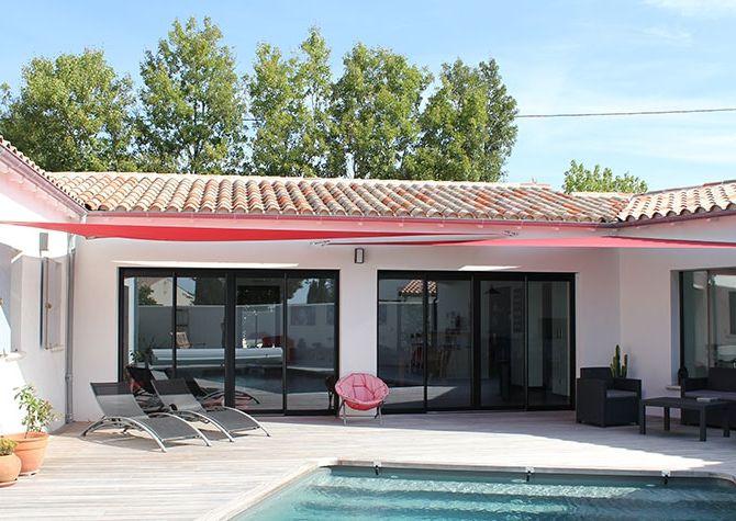 Une belle maison plain-pied à la Rochelle : forme en u