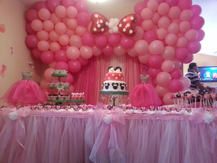 18 best images about mickey and minnie theme party for Balloon cake decoration