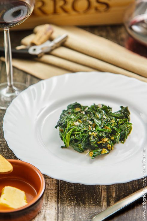 Быстрый гарнир из шпината | Кулинарные заметки Алексея Онегина
