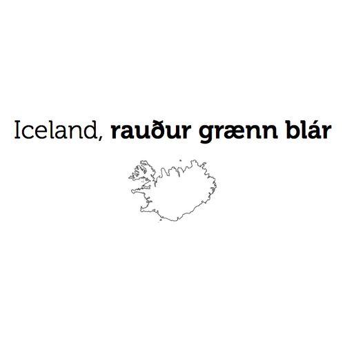 A new Book project by Lintustudio: Iceland, Rauður Grænn Blár. A book about Iceland. In collaboration with: Valur Gunnarsson, Silja Hansen, Trausti Dagsson, Svala Magnea, Brynja Huld Óskarsdóttir