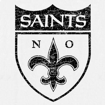 New Orleans Saints Vintage T Shirt Logo Retro Throwback Tee