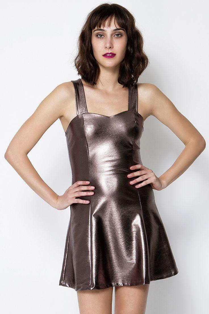 Metallic Skater Φόρεμα - ΡΟΥΧΑ -> Φορέματα & Φόρμες | Made of Grace