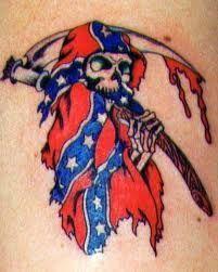 ... Rebel flag tattoo on Pinterest | Rebel flags Rebel flag tattoos and