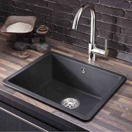 Make A Kitchen Sink 7 best granite kitchen sinks images on pinterest magazine storage crosswater cucina tone metallic black granite single bowl kitchen sink waste kit 560 x workwithnaturefo