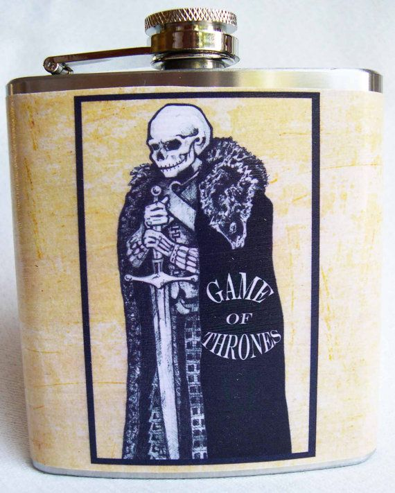Game of Thrones Flask  Lord Eddard Stark by theflaskshop on Etsy, $17.25