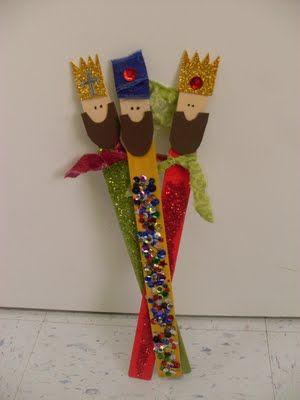 3 wisemen from paint sticks