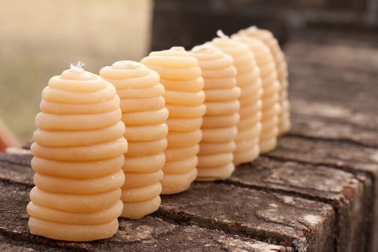 Sweet  Primitive Skep Candle - Pure Beeswax - Front Page Item. $3.50, via Etsy.