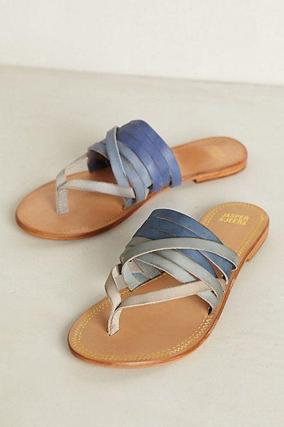 Dip-Dye Sandals - anthropologie.com #anthrofav #greigedesign