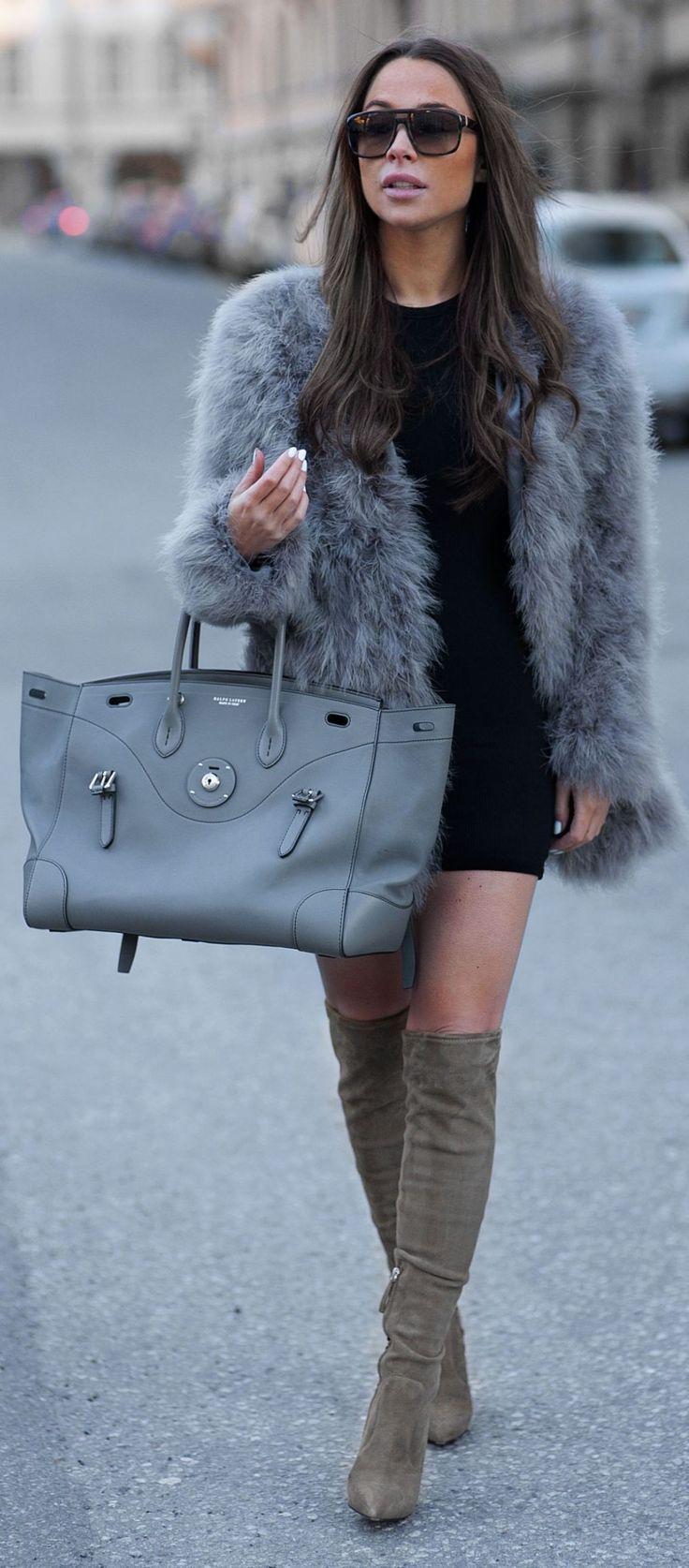 best 25+ grey fur jacket ideas on pinterest | grey faux fur jacket