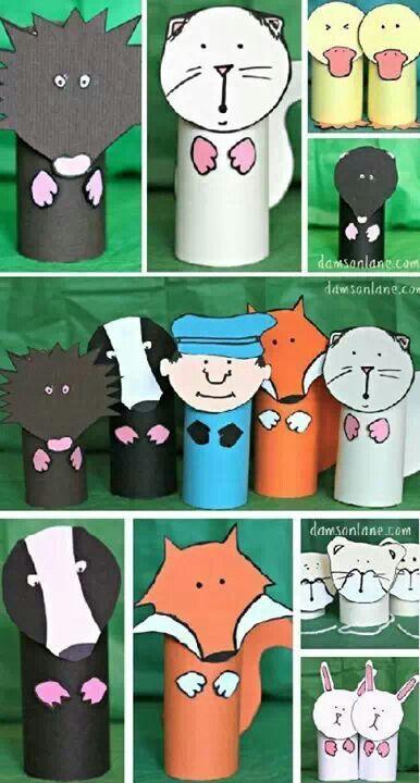 TP roll creatures #papercraft #kids