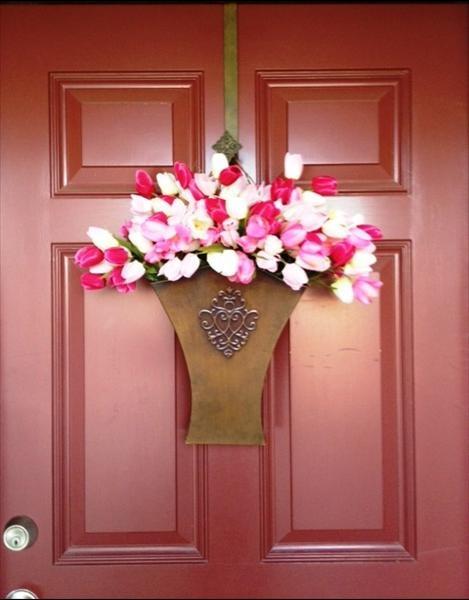 Tulips Flower Market Door Bucket u0026 RED door ) deannas.willowhouse.com & 17 best Door buckets images on Pinterest | Bucket Buckets and Blessings