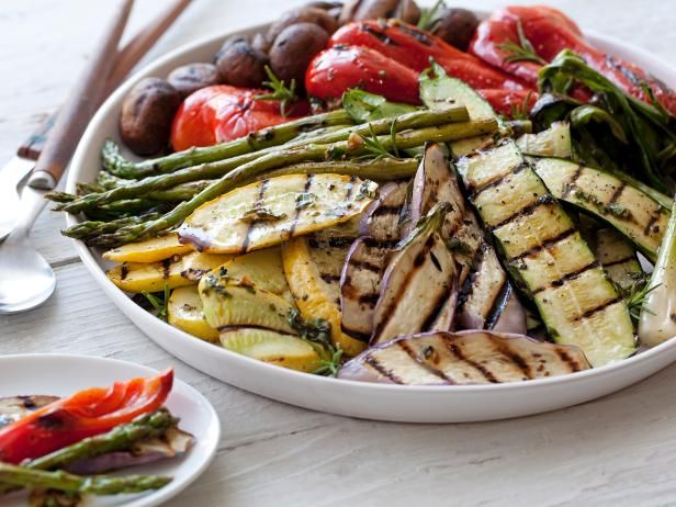 Giada gathers some of summer's greatest produce, like squash, zucchini and eggplant, then grills the veggies until tender and dresses them up with a garlic-balsamic vinaigrette.  #RecipeOfTheDay: Grilled Veggies, Food Network, Giada De Laurentiis, Side Dishes, Vegetables Recipe, Grilled Vegetable Recipes, Sidedish, Grilled Vegetables, Grilledvegetables