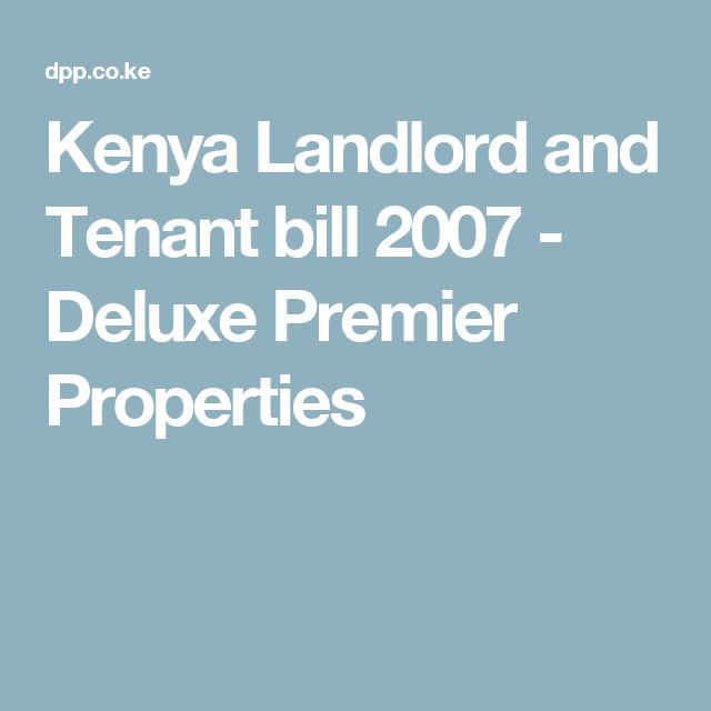 Landlord–tenant law