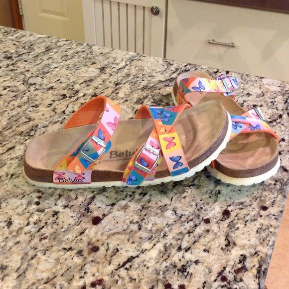 """Selling this """"Butterfly Betula sandals by Birkenstock size 10"""" in my Poshmark closet! My username is: tinovia. #shopmycloset #poshmark #fashion #shopping #style #forsale #Birkenstock #Shoes"""