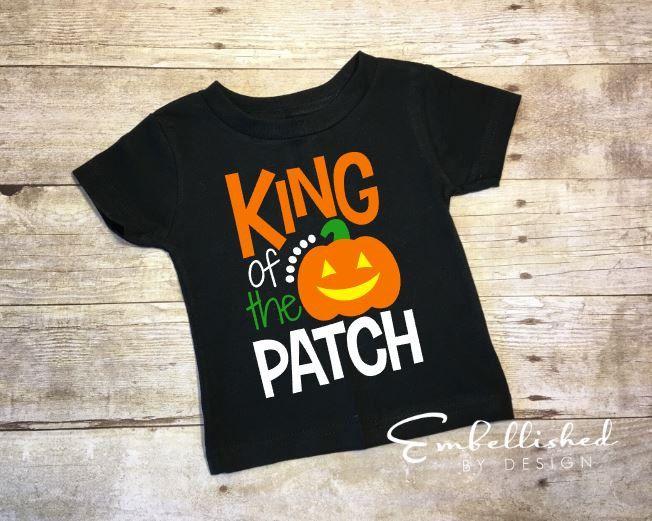 Boy Halloween Shirt, Halloween Shirt for Boys, Fall Boy Shirt, First Halloween, King of the Patch, Pumpkin Shirt, Halloween Outfit, Baby