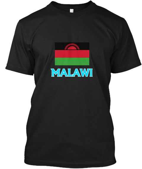 Malawi Flag Classic Blue Design Black T-Shirt Front - This is the perfect gift for someone who loves Malawian. Thank you for visiting my page (Related terms: I Heart Malawi,Malawi,Malawian,Malawi Travel,I Love My Country,Malawi Flag, Malawi Map,Malawi Langua #Malawian, #Malawianshirts...)