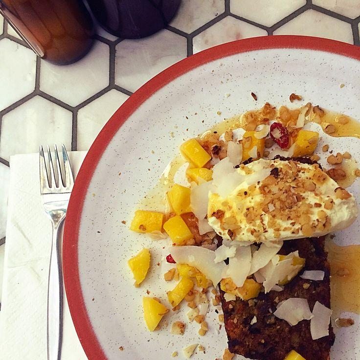 Organic banana Apple quinoa bread @socialbrewburleigh
