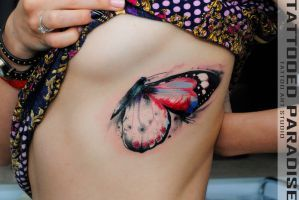 watercolor moth by dopeindulgence