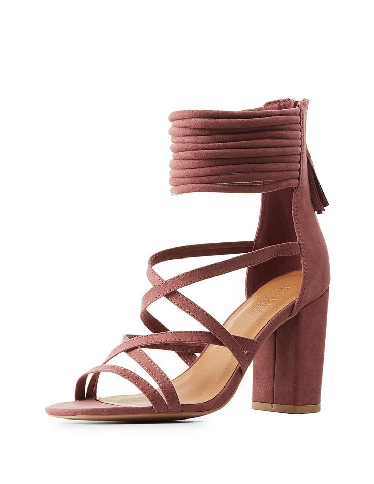 Strappy Block Heel Sandals | Charlotte Russe