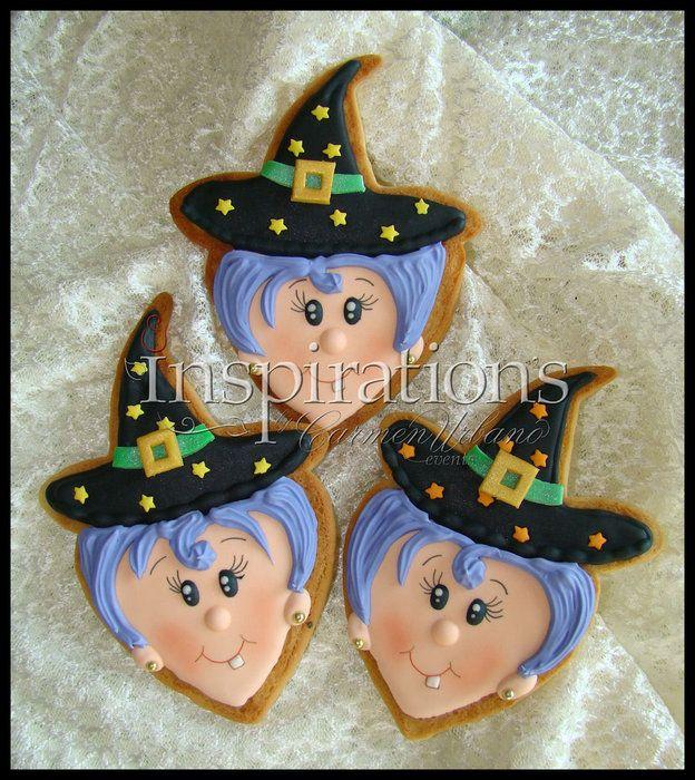 Inspirationn's Spooky cookies - by Inspiration by Carmen Urbano @ CakesDecor.com - cake decorating website