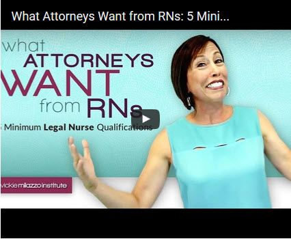 """If you missed my Video Webinar on """"What Attorneys Want from RNs: 5 Minimum Legal Nurse Qualifications"""" here it is! #legalnurseconsulting #nursing View the video: https://youtu.be/MVRJ6WbpJcU"""