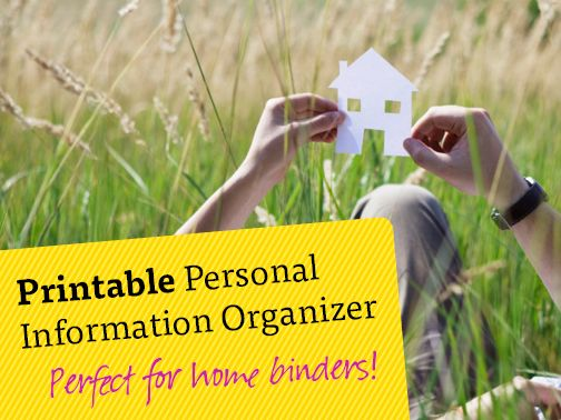 Good to have! A printable personal information organizer, perfect for keeping important information organized in one place! Everything from finances, insurance, health & medical to estate planning, and more!