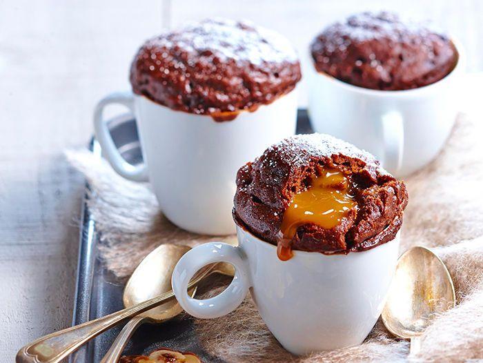 Découvrez la recette Mug cake choco-caramel sur cuisineactuelle.fr.                                                                                                                                                                                 Plus