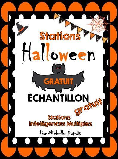 GRATUIT - Activités pour l'Halloween. French Halloween activities. FREE
